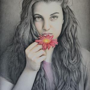 "Paper Artwork: ""Glow"" - 50 x 80 cm - Pastels on paper"