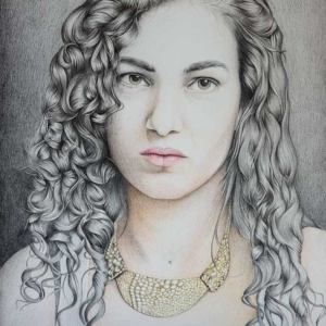 """Paper Artwork: """"Portrait"""" - 40 x 60 cm - Pastels on paper - 2"""