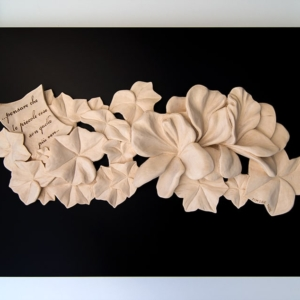 """Sculpture: """"Nature and Wonder"""" - 46,5 h x 79 x 4 cm - Wood """"lime"""""""