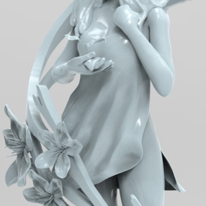"Digital Sculpture ""Spring"" - 4"