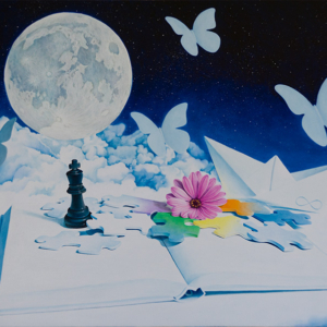"""""""Logica and Poetry"""" - 50 x 80 cm - Oil on canvas"""