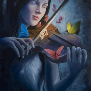 """""""Music and Harmony"""" -80 x 50 cm - Oil on canvas"""
