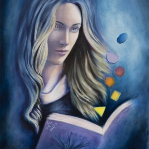 """""""The Book of Nature"""" - 60 x 40 cm - Oil on canvas"""