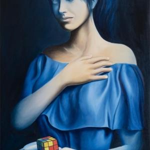 """""""Heart"""" - 100 x 60 cm - Oil on canvas"""