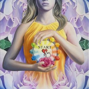 """Start"" - 100 x 60 cm - Oil on canvas"
