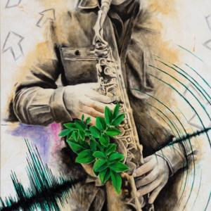 """Sound Waves"" - 50 x 80 cm - Oil paint on canvas"